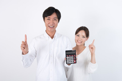 People with calculator
