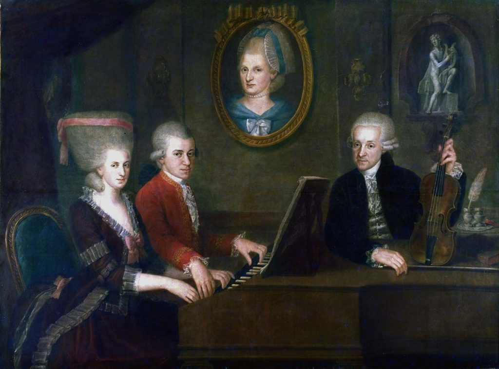 Portrait of family of Mozart