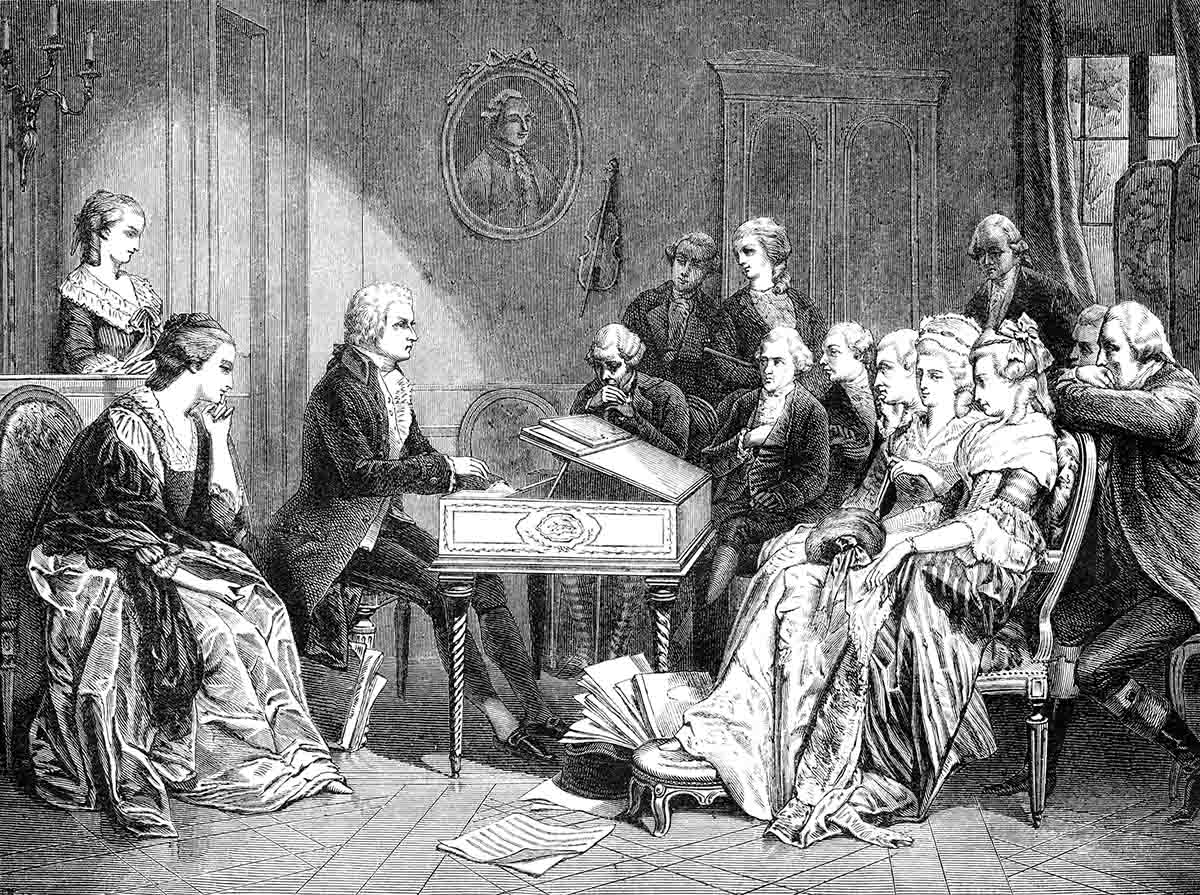 Mozart playing the first time Don Juan